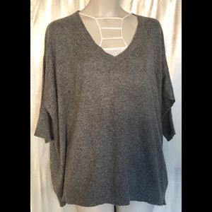 Love Stitch heather grey sweater